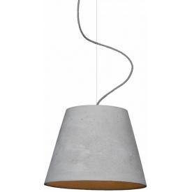 Stylowa Betonowa lampa wisząca Kopa 36 LoftLight do salonu. Kolor szary