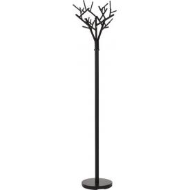 Stylowy Wieszak metalowy stojący Rami W56 Czarny Halmar na ubrania do przedpokoju.