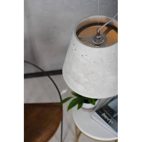 Industrialna Lampa betonowa wisząca Kopa 36 Szara LoftLight do salonu i sypialni.