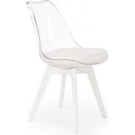 Designerskie Przezroczyste krzesło Norden Cross Clear Halmar do jadalni. Styl inspirowane.