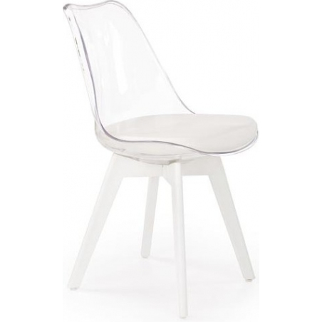 Norden Cross Clear white transparent chair Halmar