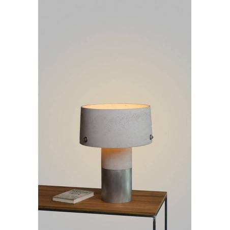 Industrialna Lampa betonowa stołowa Talma LotfLight Szara LoftLight do salonu.