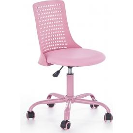 Designerski Fotel młodzieżowy PURE Różowy Halmar do biurka.