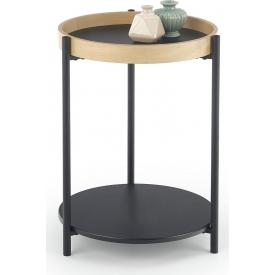 Designerski Okrągły stolik kawowy ROLO 44 Halmar do salonu. Kolor czarny