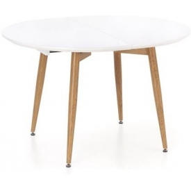 Skandynawski Stół rozkładany CALIBER 160 Biały Halmar do salonu, jadalni i kuchni.