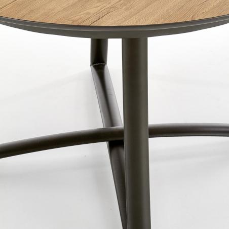 Stół okrągły rozkładany Moretti 118 Halmar do kuchni. Kolor dąb złoty