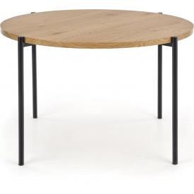 Stylowa metalowa czarna lampa stołowa Beli Black