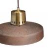 Industrialna Lampa betonowa wisząca Korta 33 Brązowa LoftLight do salonu i sypialni.