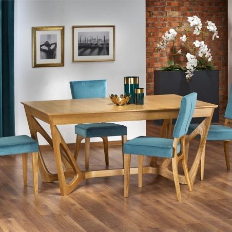 Skandynawski Stół rozkładany Wenanty 160x100 Dąb Halmar do salonu, jadalni i kuchni.