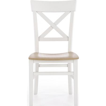 krzesła białe drewniane fotelowe