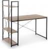 Narvik 120 black&oak sonoma shelving unit desk Halmar