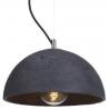 Industrialna Lampa betonowa wisząca Sfera 32 Antracytowa LoftLight do salonu i sypialni.