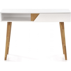 KN-1 110 white scandinavian console table with drawer Halmar
