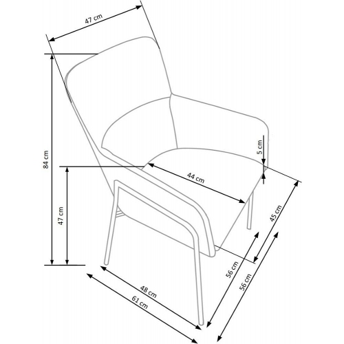 Desgnerski wygodny fotel gabinetowy Vip Natural