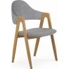 Tapicerowane krzesło z podłokietnikami Elbo K344 Halmar do jadalni. Kolor: popiel