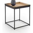 Stylowa ceramiczna lampa stołowa Bonjo M z materiałowym kloszem.