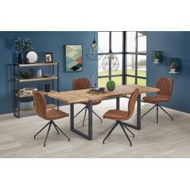 Designerski stolik do salonu Ozzy S z betonowym blatem.