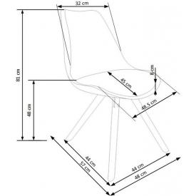 Pikowane brązowe krzesło Pixel Tap
