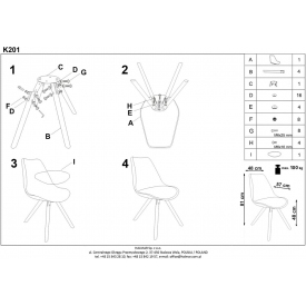 Ogrodowe Krzesło Axo z tworzywa Signal. Kolor biały, czarny, Styl nowoczesny.