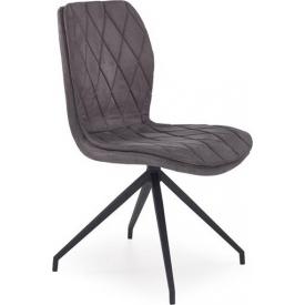 Stylowe Tapicerowane krzesło Evita Signal do jadalni. Kolor: szary, podstawa metalowa. Styl nowoczesny, 245,00 PLN.