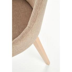 Kubełkowe białe krzesło Layer Arms