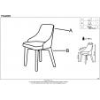 Tapicerowane krzesło Feno do jadalni