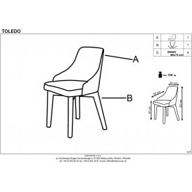 Tapicerowane krzesło pikowane Lucil Signal do jadalni. Kolor: szary, niebieski, podstawa z tkaniny. Styl vintage, 249,00 PLN.