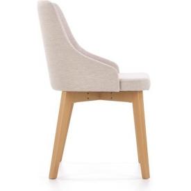 Materiałowe krzesło Flip do salonu