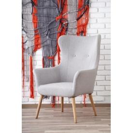 Designerski Okrągły stolik kawowy Lucca S 50 Signal do salonu. Kolor dąb z czarnym, stelaż/podstawa metalowa.