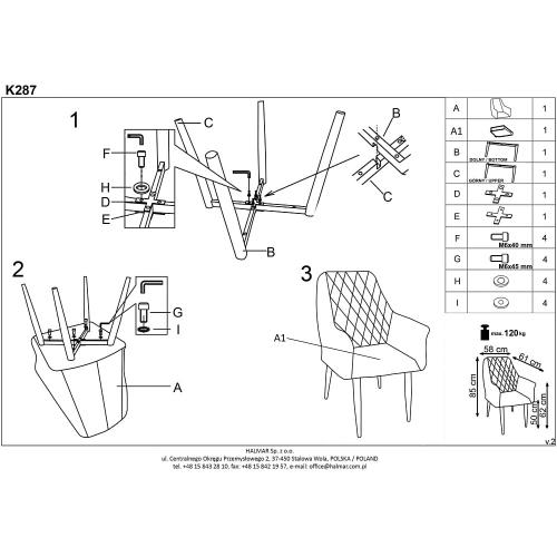 Krzesło Tapicerowane Cushy Halmar
