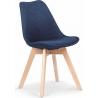 Kris K303 dark blue upholstered chair with wooden legs Halmar