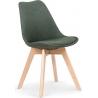 Kris K303 dark green upholstered chair with wooden legs Halmar