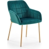 Tapicerowane krzesło K306 Halmar do jadalni. Kolor: granatowy