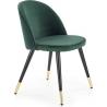 Tapicerowane krzesło K315 Halmar do jadalni. Kolor: ciemny popiel