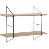 Belfast black&wood industrial wall shelf Actona