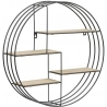 Darkenberg black round wall shelf Actona