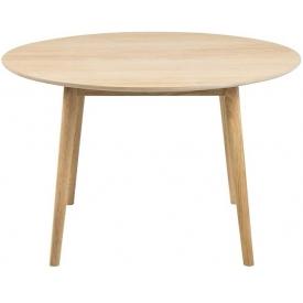 Skandynawski Stół okrągły drewniany Nagano Round 120 Dąb Actona do salonu, jadalni i kuchni.