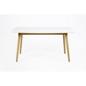 Skandynawski Stół prostokątny Nagano White 150x80 Biały Actona do salonu, jadalni i kuchni.