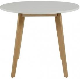 Stylowy Stół okrągły skandynawski Raven Round 90 Biały Actona do jadalni, kuchni i salonu.