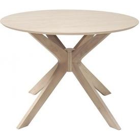 Stylowy Stół okrągły skandynawski Duncan 105 Dąb Actona do kuchni, jadalni i salonu.