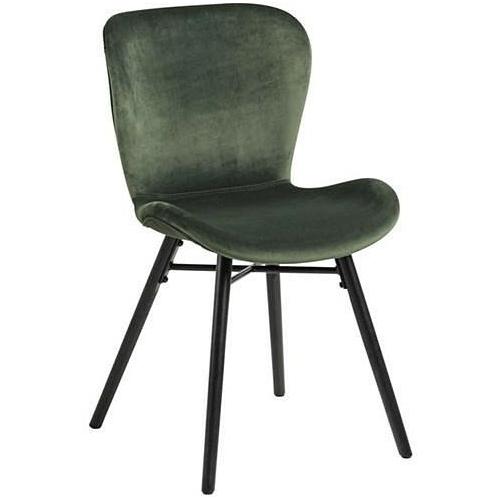 Tapicerowane krzesło Batilda VIC Actona do jadalni. Kolor: zielony