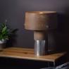 Stylowa Betonowa lampa stołowa Talma LotfLight do salonu. Kolor szary