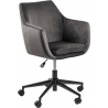 Nora grey velvet office chair Actona