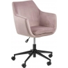 Nora pink velvet office chair Actona