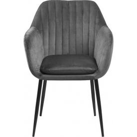 Stylowe Tapicerowane krzesło Nobel Signal do jadalni. Kolor: szary, podstawa drewniana. Styl klasyczny, 239,00 PLN.