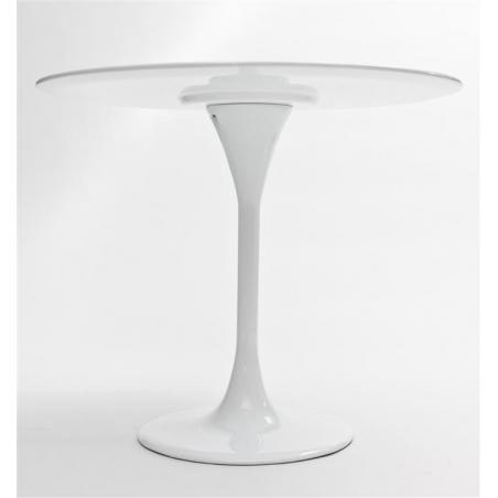 Stół okrągły Tulipan MDF 90 D2.Design do jadalni. Kolor biały