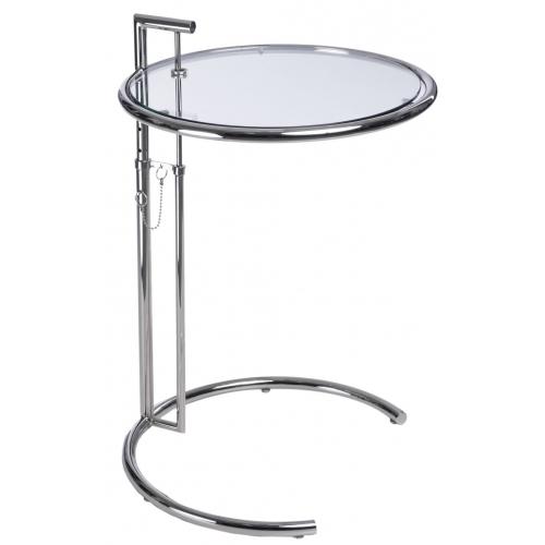 Designerski Szklany stolik kawowy Eileen 51 do salonu. Kolor chrom