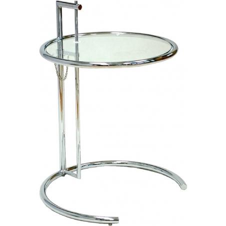 Designerski Stolik boczny szklany Eileen 51 Chrom D2.Design do salonu.