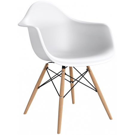 Daw white scandinavian chair with armrests D2.Design
