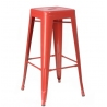 Paris 66 insp. Tolix custom colour metal bar stool D2.Design
